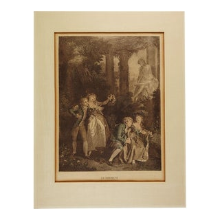Antique French Etching Le Serment