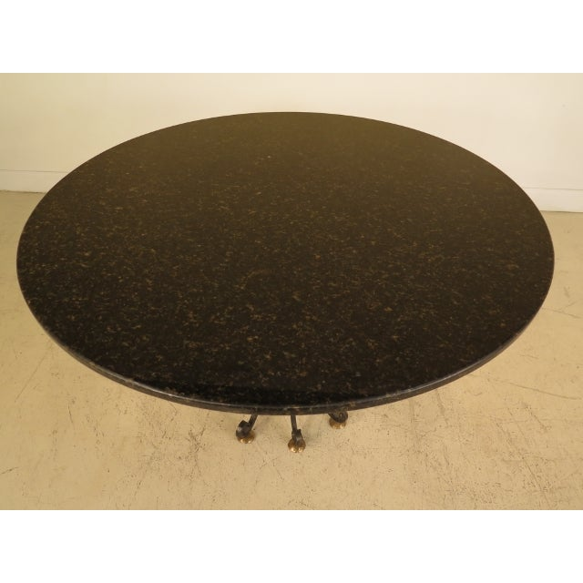 Granite Round Dining Table: Round Granite Dining Table With Iron Base