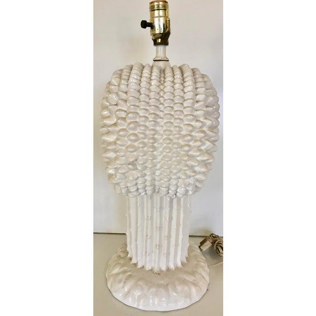 Image of Vintage Italian Tree of Life Ceramic Table Lamp