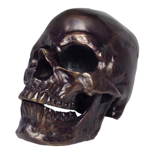 Image of Metal Skull Sculpture