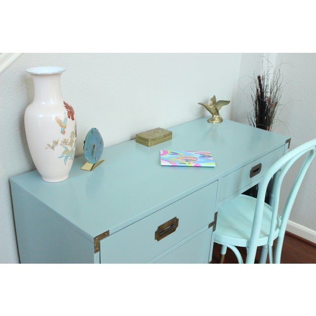 Image of Dixie Campaigner Desk with Faux Bamboo Legs