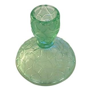 Green Depression Glass Candle Holder