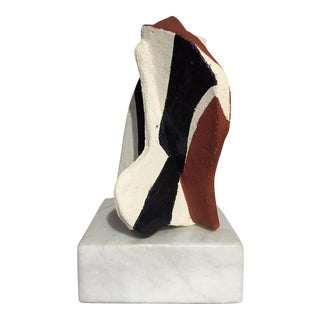 Mid-Century Ceramic Sculpture on Marble