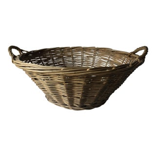 Antique French Laundry Market Basket