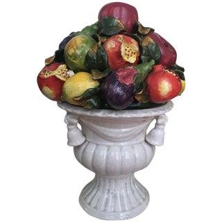 Italian Majolica Fruit Topiary With Pomegranates