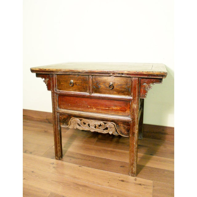 """Antique Ming """"Butterfly"""" Coffer, Camphor Wood - Image 2 of 9"""