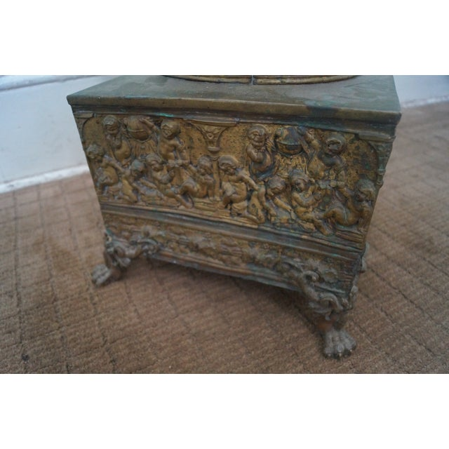 19th Century Brass Relief Neo Classical Pedestal - Image 5 of 10