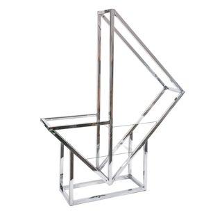 Chrome & Glass Milo Baughman Inspired Etagere