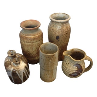 Collection Of Signed Vintage Pottery - Set of 5