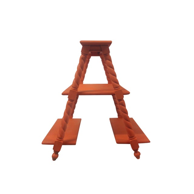 Orange Painted Three Tiered Stand - Image 5 of 5