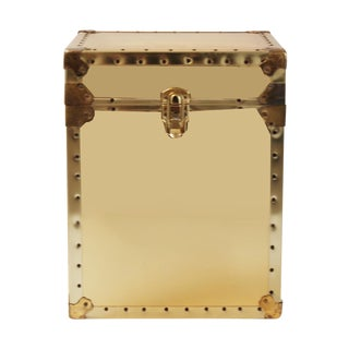 Sarried-Style Brass Trunk Side Table