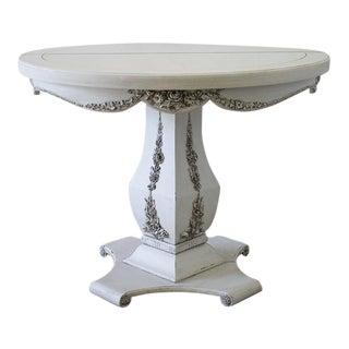 20th Century Carved and Painted Round Table