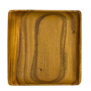 Mid-Century Square Wooden Tray