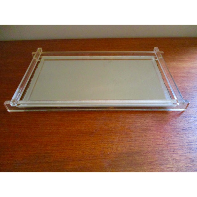 Art Deco Lucite & Mirrored Vanity Tray - Image 3 of 7