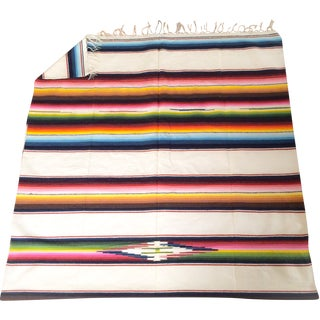 Cream Serape - Multi-Colored Stripe