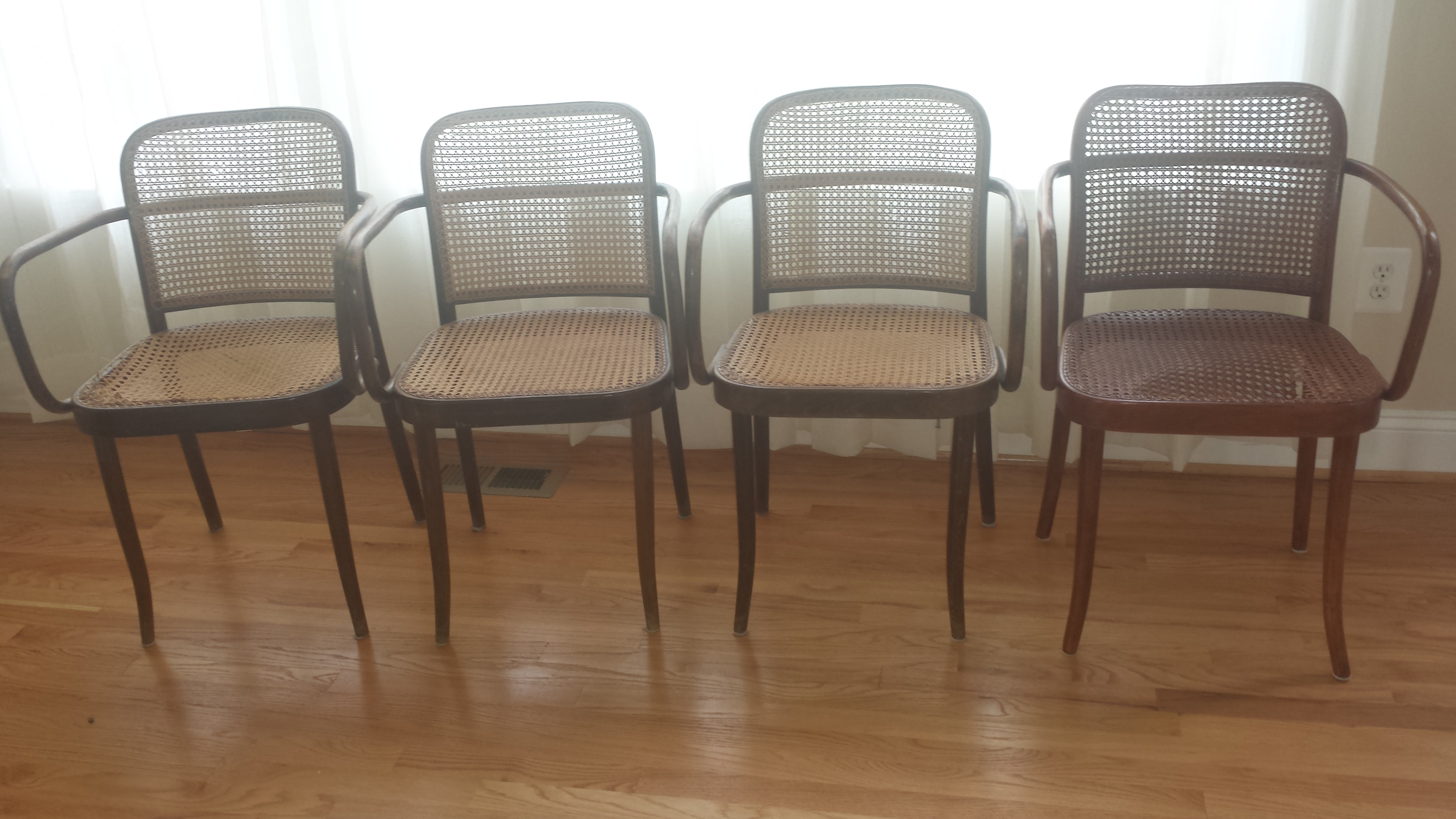 Vintage Stendig Thonet Bentwood Cane Chairs   Set Of 4   Image 2 Of 11