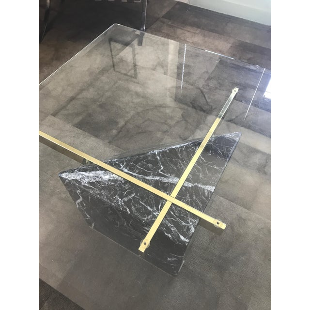 Image of Artedi Nero Marquina Marble & Brass Coffee Table