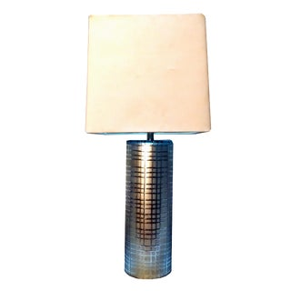 Modern Frosted Silver Vector Glass Lamp