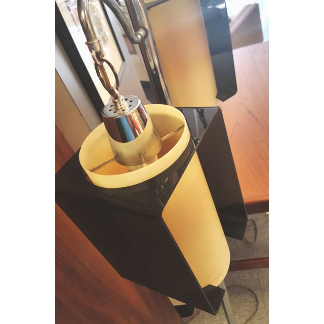Chrome Pole With Hanging Lantern Floor - Image 4 of 9