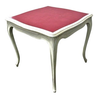 Italian Painted & Pink Leather Game Table
