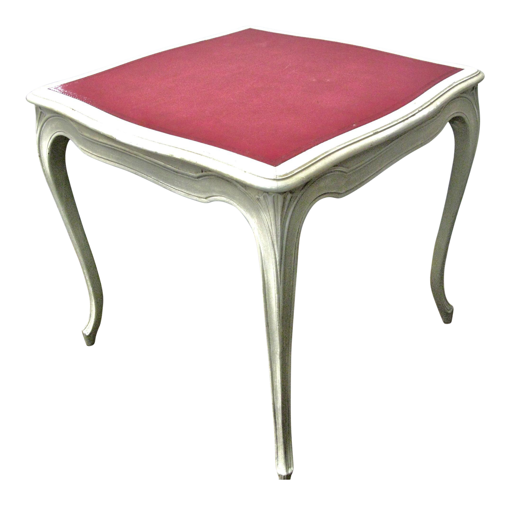 Italian Painted U0026 Pink Leather Game Table