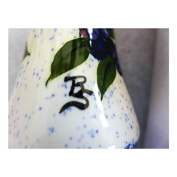Image of Maine Potters Blueberry Salt & Pepper Shakers - A Pair