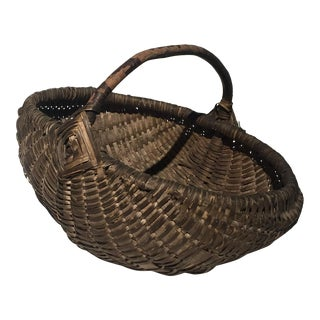 1910 French Egg Harvest Basket
