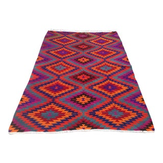 Vintage Turkish Kilim Rug - 5′9″ × 8′6″