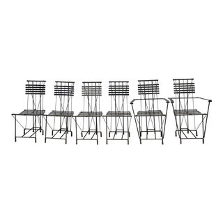 Alana Goor Wrought Iron Dining Chairs - Set of 6