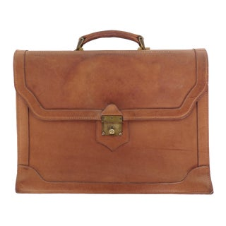 Vintage Leather & Brass Briefcase