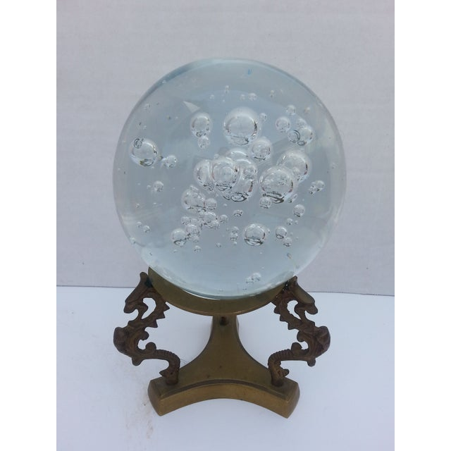 Glass Sphere on Brass Stand - Image 3 of 3