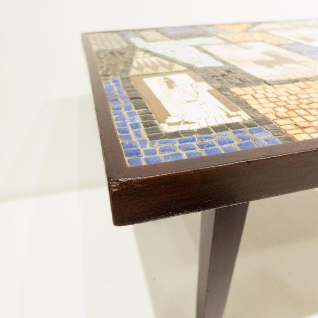 David Holleman Ceramic Mosaic Table - Image 6 of 10
