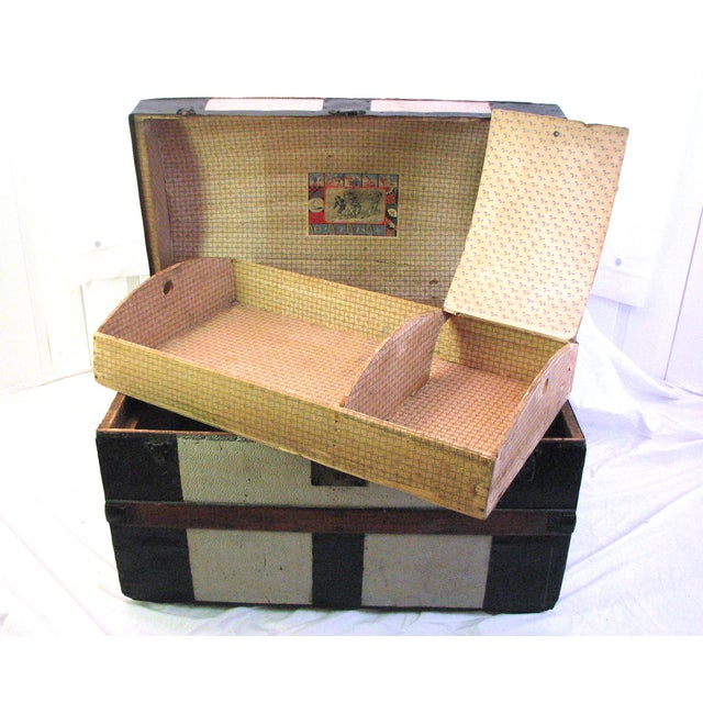 100 Year Old Saratoga Petite Dome Top Doll Trunk - Image 3 of 11
