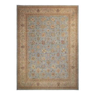 Istanbul Lester Light Blue & Tan Wool Rug - 10'3 X 14'0