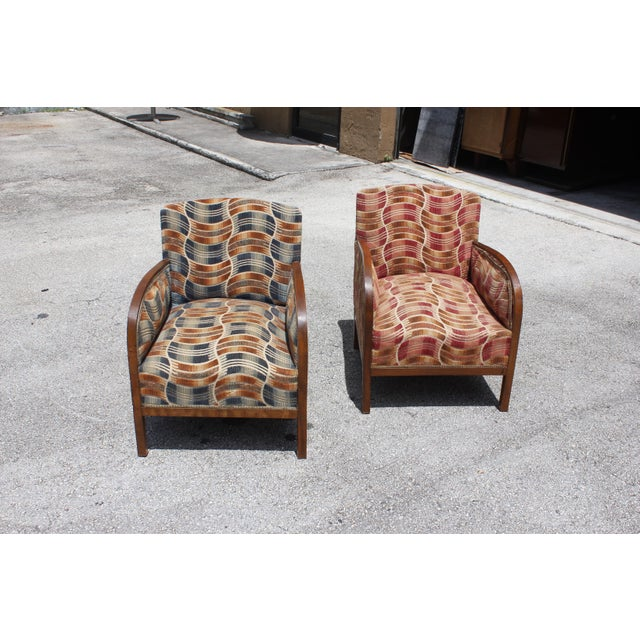 French Art Deco Sold Mahogany Speed Armchairs - A Pair - Image 8 of 11