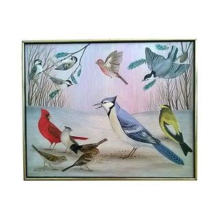 Oil Painting - The Birds by Luis Idigoras