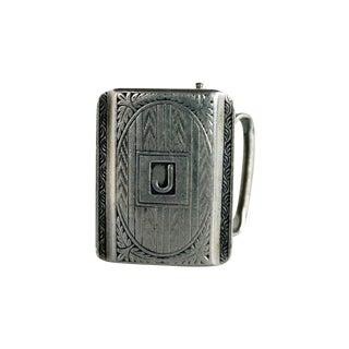 """Sterling Silver """"J"""" Monogrammed Belt Buckle"""