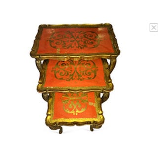 Gilded Italian Nesting Tables - Set of 3