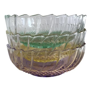 KIG Indonesia Glass Bowls - Set of 3