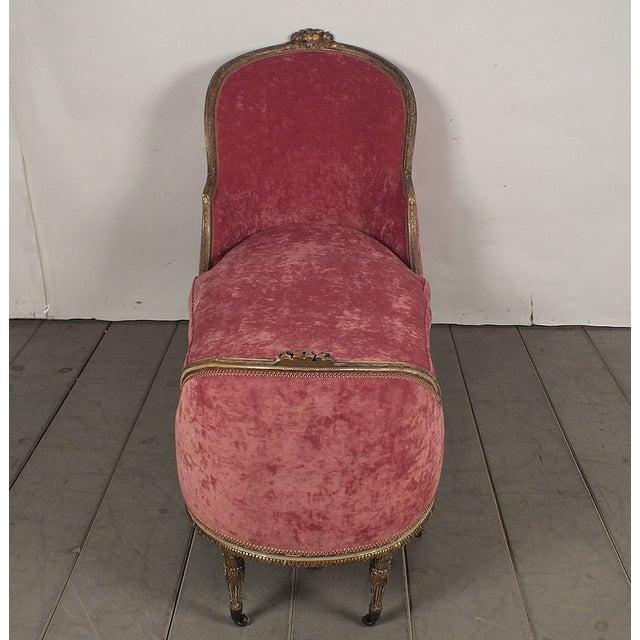 19th C. Style Giltwood Gondola Chaise Lounge - Image 4 of 10