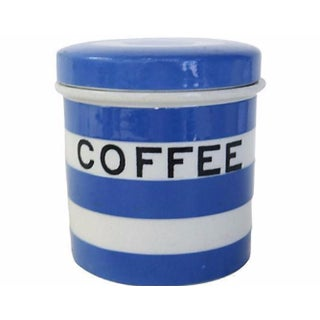 Vintage English Cornishware Coffee Canister