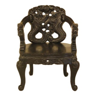 Authentic Chinese Antique Carved Dragon Arm Chair
