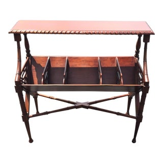 Mahogany Bamboo Chippendale Magazine Table
