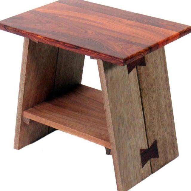 Chi Exotic Wood Stool - Image 5 of 6