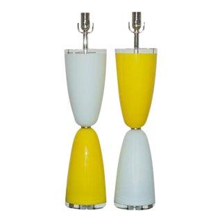 Parabolic Murano Lamps in Yellow