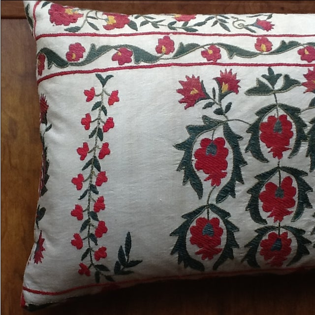 Large Silk Embroidered Pillow - Image 4 of 9