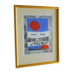 Image of Joan Miro Lithograph Framed