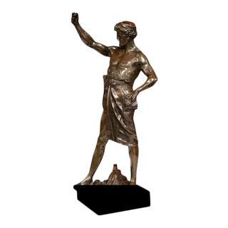 "19th Century French Bronze Figure Gloire Et Fortune Signed ""E. Picault"""