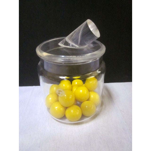 Image of Modern Pyrex Jar with Lucite Thorpe Lid