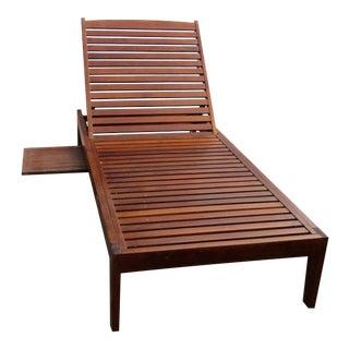 Teak Garden Chaise Lounge Chair